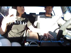 Sucking dick in the car leads to hard fucking c...