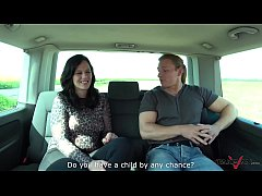 Pick-up Brunette Banged and Sperm Filled in a Van