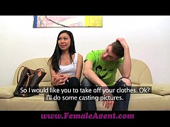 FemaleAgent Hot Asian pleasures MILF then fucks...