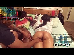 two  ebony teens  get  there asses oiled onlyfa...