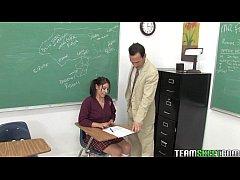 cute brunette schoolgirl Abby gets her wet teen...