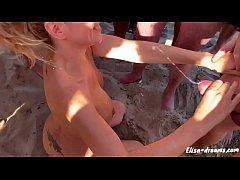 Public Masturbation and Cumshots at beach