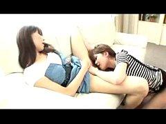 Asian Girl In Stripped Top Licking Fingering Ot...