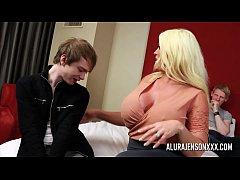 Cuckold threesome with big tit pornstar Alura J...
