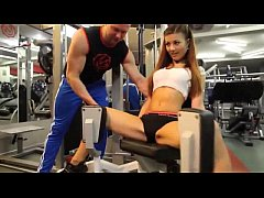 Sexy girl in GYM - More http:\/\/adf.ly\/1S5iAA
