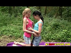 Sexy lesbian teens horny outdoors