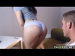 Nekane Sweet doing the reverse cowgirl riding o...