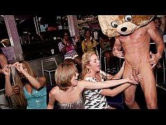DANCING BEAR - Group Of Horny Women Getting Dic...