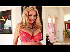 Summer Brielle plays with her pussy