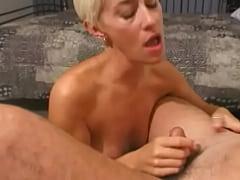 White blonde milf gets fucked hard