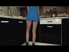 Young teen without panties got caught on spy cam