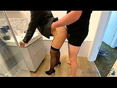 female boss bathroom quickie before work - busi...