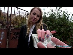 Public Agent Cute Blonde Russian babe fucked th...