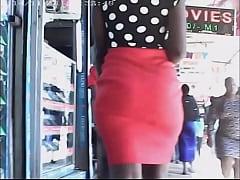Big Booty Walking In Tight Skirt