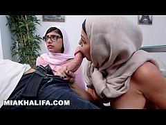MIA KHALIFA - Watching Stepmom Julianna Vega Su...
