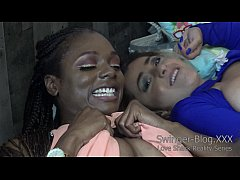 Interracial Lesbians Eat Pussy at the Love Shac...