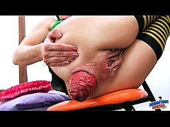 EXTREME Anal and Pussy Insertion Destroying Pus...