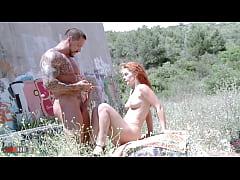 hot redhead slut Dixie Valens fucked with huge ...