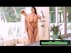 Lesbian with huge boobs getting nuru massage - ...