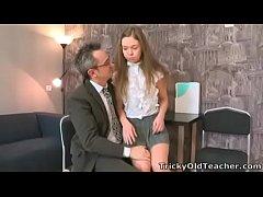 Tricky Old Teacher - Sara looks so innocent