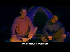 Two Twink Step Brothers Fuck While Camping On H...