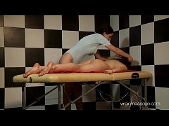Sexy virgin babe Alina Redofed massaged