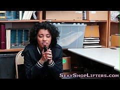 thumb ebony shoplifti  ng teen
