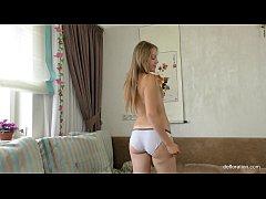 Virgin Tara Sabirova with small juicy ass mastu...