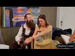 First time swingers couple enjoy an orgy bang a...