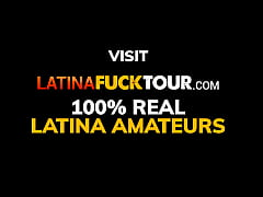 Latina anal nympho takes a huge dildo and big c...
