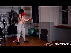 Gym Fuck Masturbation Makes Nekane's Big Tits S...