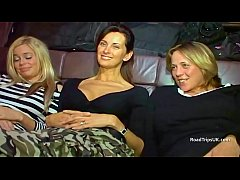 Angie, Anabel and Alicia in the van