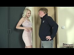 Teen sex with old man she gets pussy fucked and...