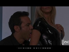 Jessica Drake strips out of her Latex outfit be...