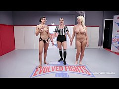 London River wrestles Penny Barber and gets bea...