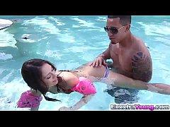 Sara Luvv swim and fuck lessons with Bruno