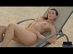 Curvy MILF model Sybil A Kailena strips naked f...