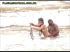 Vídeo amador de casal sem vergonha fodendo em p...