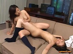2 Asian Schoolgirls Licking Pussies In 69 Rubbi...