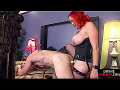 CBT session for pathetic guy who is being dominated by femdom