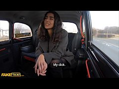 Fake Taxi Asian babe gets her tights ripped and...