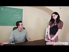 Sexy schoolgirl Jenna J Ross take cock in class...