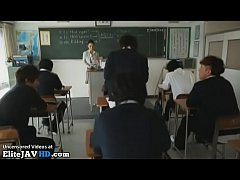 Japanese busty teacher has to satisfy her student