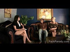 Blonde hottie convinces her man to go therapy w...
