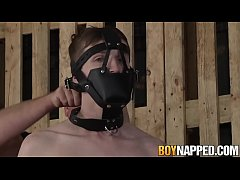 Tied up gay with mask sucked and fingered by Se...