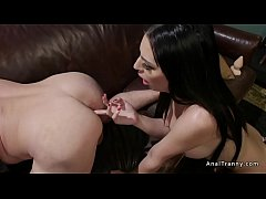Tranny seduces and anal fucks therapist