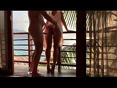 honeymoon b. having balcony sex - projectfundiary