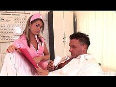 Sweet young nurse Federica Hill satisfies patie...
