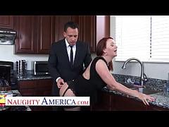 Naughty America - Janet Mason gets a Cream Pie ...