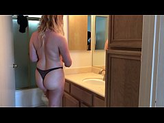 XXX cleaning lady gets fucked in the bathroom -...